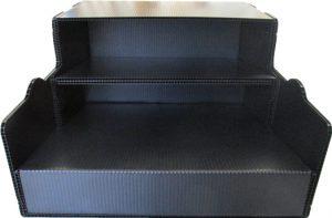 プラダン箱 超音波止め 斜め 傾斜付き 収納BOX スタッキング可能 コンパクト
