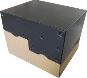 プラダン箱 超音波止め 斜め 傾斜付き 収納BOX スタッキング可能 コンパクト 収納時 ダンボール 試作