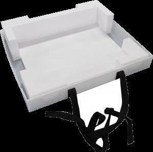 プラダン箱 C式 バックル付ベルト 緩衝材貼付 什器梱包材 重量物梱包