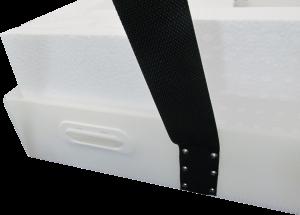 プラダン箱 C式 バックル付ベルト 緩衝材貼付 什器梱包材 重量物梱包 ベルトは鉄リベット止め