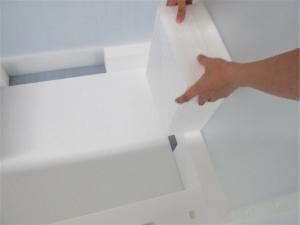 プラダン箱 C式 バックル付ベルト 緩衝材貼付 什器梱包材 重量物梱包  取り外し可能なパーツもあり