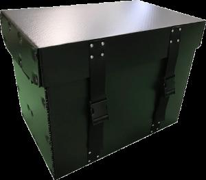 プラダン箱 プラパール 川上産業 全面ベルト付 緩衝材取付