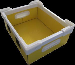 プラダン箱 プラパール 川上産業 全面ベルト付 緩衝材取付 フレーム・コーナー付 C式箱 高級感