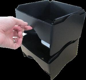 導電プラダン 収納BOX 小リール入 スタッキング可能 コンパクト