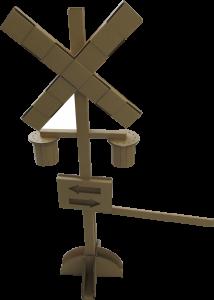 踏切 模型 ダンボール 組立式 長岡はなび館 道の駅 ダンボール踏切 手作り オリジナル